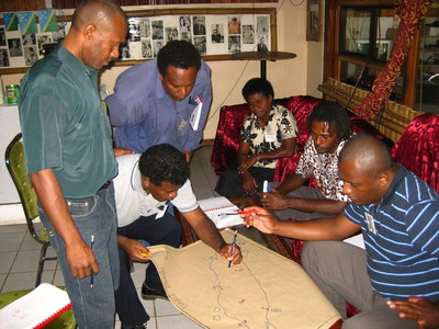 Group work during training in the Solomon Islands